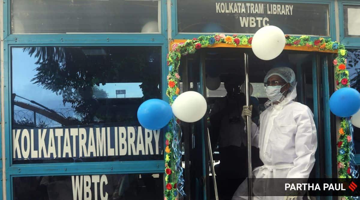 Kolkata's first tram library, kolkata's first movable library, tram library kolkata, kolkata trams, kolkata city news, kolkata news, west bengal news, indian express news