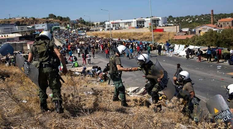 lesbos, moria migrants