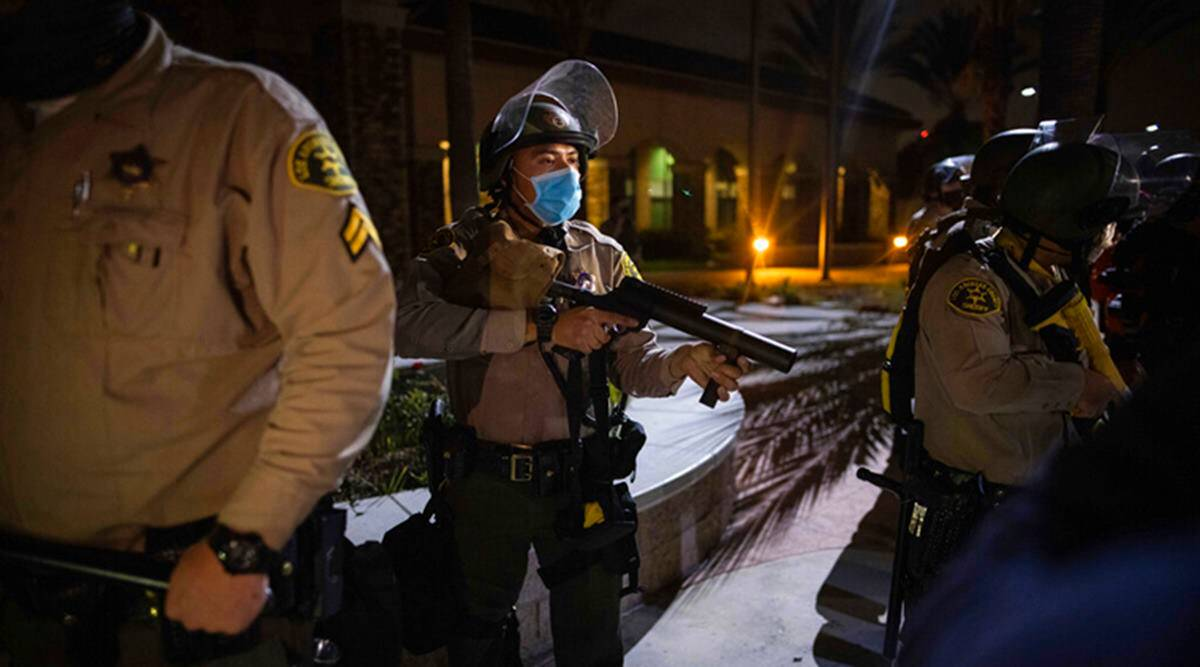 US anti-racism protests: Unrest in Los Angeles after black man shot by police - The Indian Express