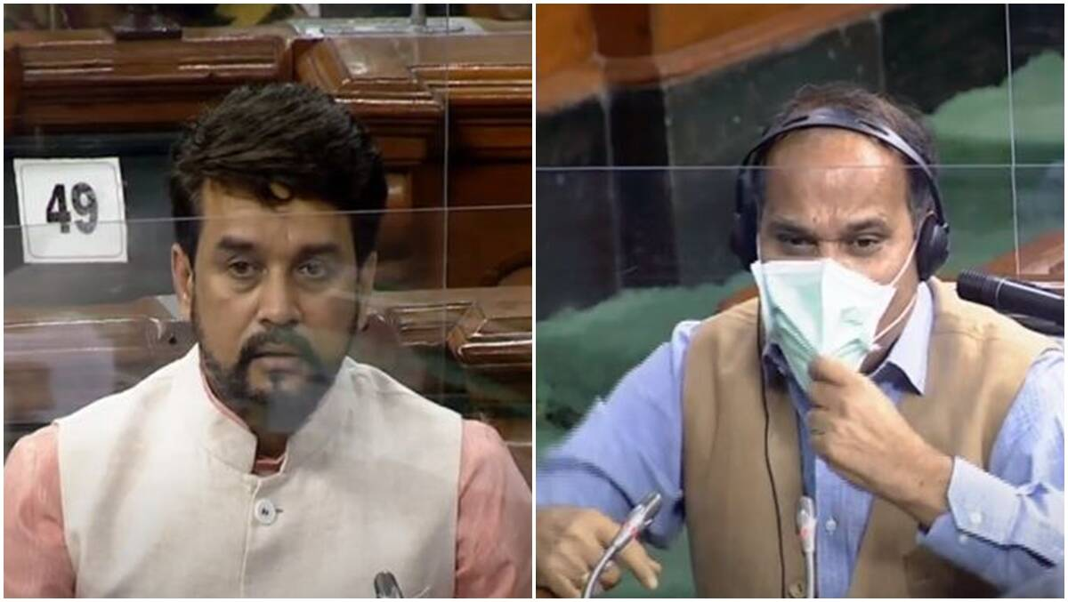 Lok Sabha adjourned after Opposition uproar over Anurag Thakur's Nehru-Gandhi remarks