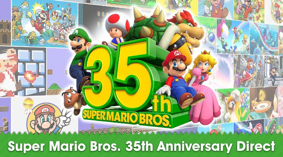 Nintendo, Super Mario Bros, Super Mario Bros 35 Anniversary, Super Mario Bros Game and Watch, Nintendo new products, Super Mario 3D All-Stars, Super Mario 64, Super Mario Sunshine, Super Mario Galaxy, Super Mario Bros. 35, Super Mario 3D World, Mario Kart Live: Home Circuit