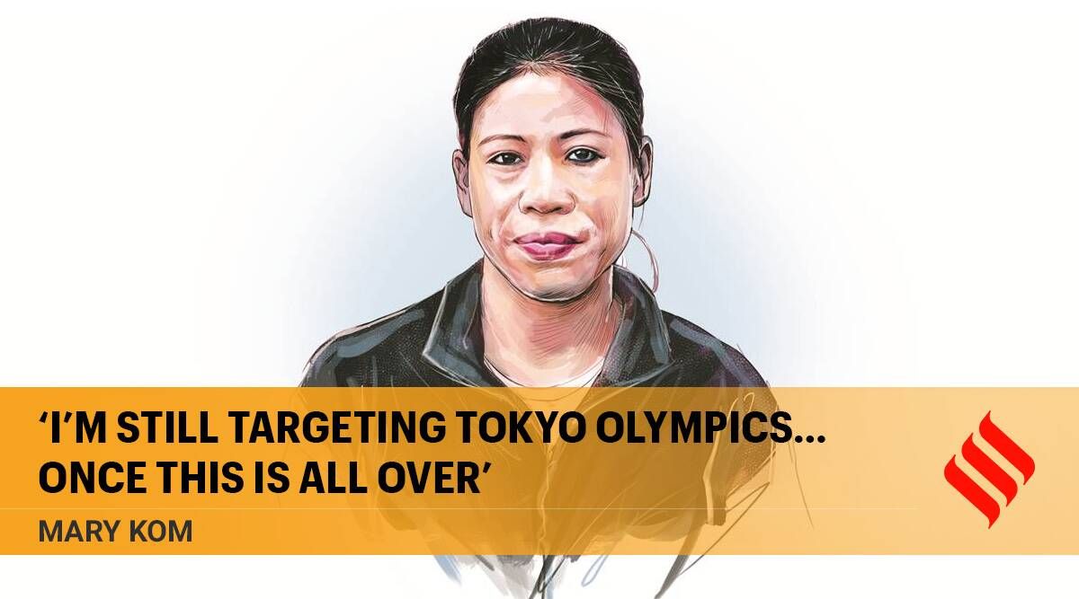 mary kom, mc mary kom, mary kom boxing, mary kom tokyo olympics, olympics 2021, covid isolation, indian express news