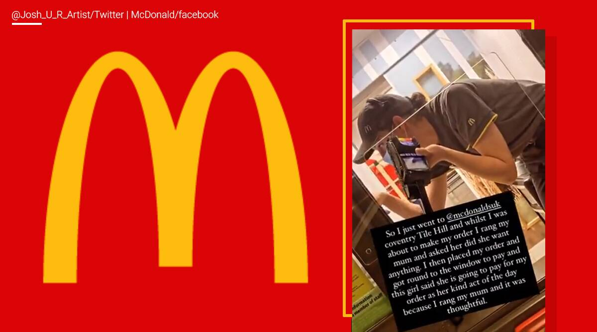 McDonald employee, free meal, act of kindness, Coventry, UK, trending news, Indian Express news.