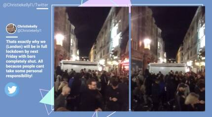 Watch: As 10 pm curfew kicks in, people in London hold 'impromptu' party at Oxford Circus