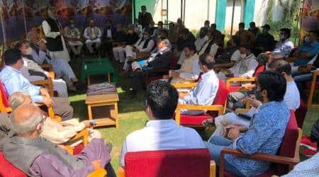 PDP leaders meet, Jammu and kashmir, Article 370, First PDP meet, Mehbooba mUfti, Political detainees, Indian express