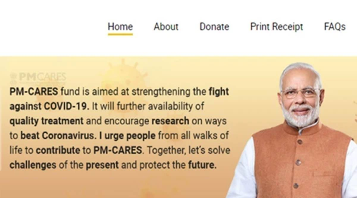 PM cares, PM cares fund, central staff salaries in PM cares fund, PM Cares fund contribution, contribution to PM Cares, contribution to PM Cares fund, PM Cares funds, India news, indian express