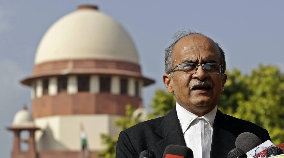 'Paying fine doesn't mean I have accepted verdict': Prashant Bhushan files review petition in SC in contempt case - The Indian Express