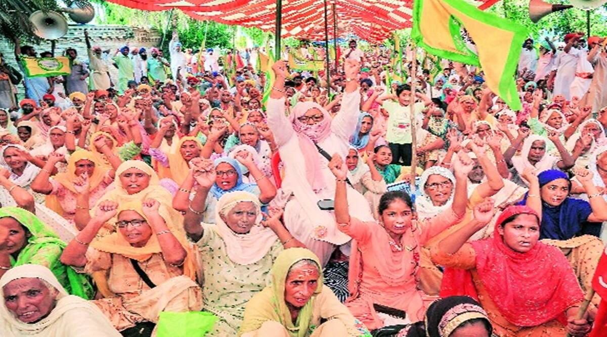 Punjab Farmers, Pakka Morcha, Badal Village, Punjab Farmers Protest
