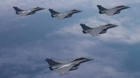 Rafale, Rafale jets, Rafale jets India, Rafale jets induction, Ambala air force station, Indian Air Force, Rajnath Singh, India France, India news, Indian Express