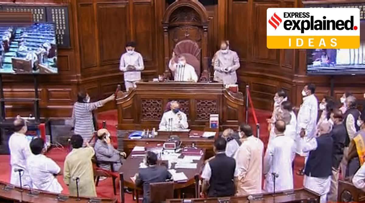 farm bills, farm bills explained, PB Mehta on farm bills, rajya sabha, parliament farm bills, indian express
