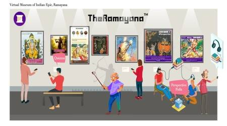 TheRamayanaApp, ramayana epic, indianexpress.com, bhuwan arora, IIT-Delhi, ramayana application, indianexpress,