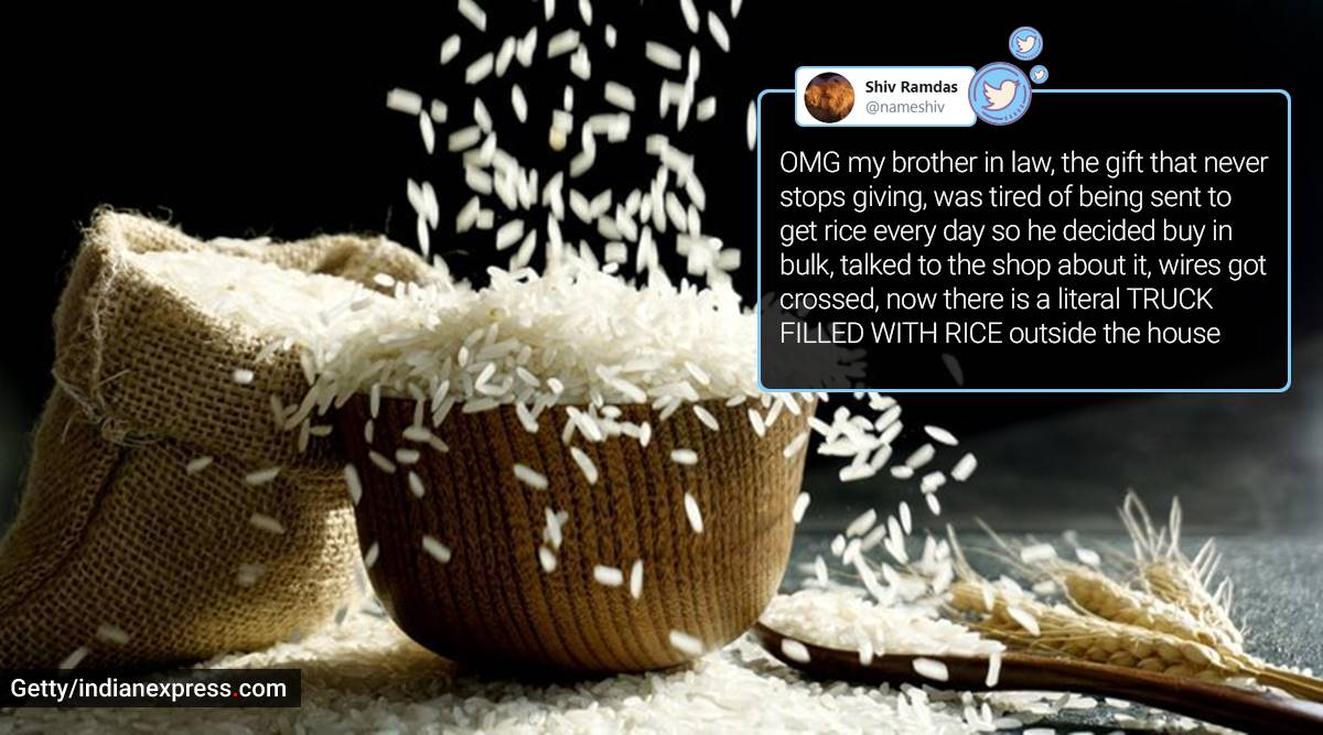 Rice bulk buying, Rice in truck, India, Twitter thread, Viral Twitter thread, Trending news, Indian Express news