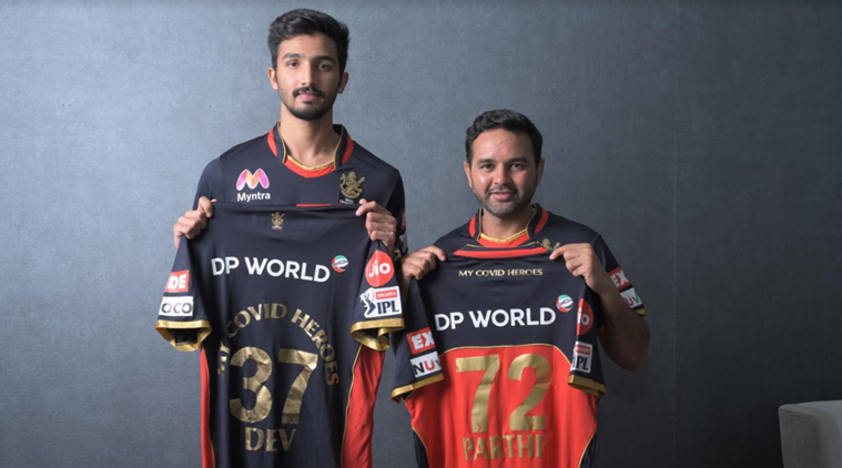 Devdutt Paddikal and Parthiv Patel at the launch (Source: RCB)