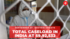 Coronavirus on September 27, total caseload in India at 59,92,532