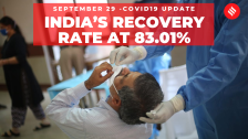 Coronavirus on September 29, India's recovery rate stands at 83.01 per cent