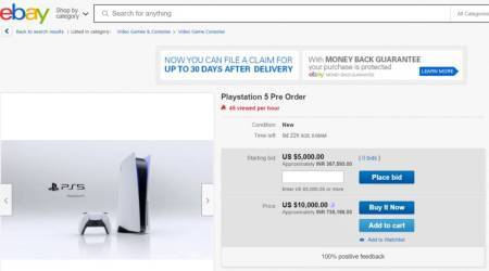 Sony playstation 5, sony ps5, sony ps5 ebay, sony ps5 ebay bids, sony ps5 pre order bids, sony ps5 pre order price, sony ps5 release india, sony ps5 illegal pre order selling