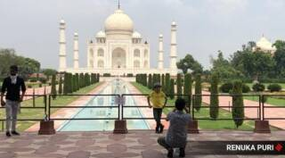Visitors back at Taj Mahal as 'monument of love' reopens after 6 months