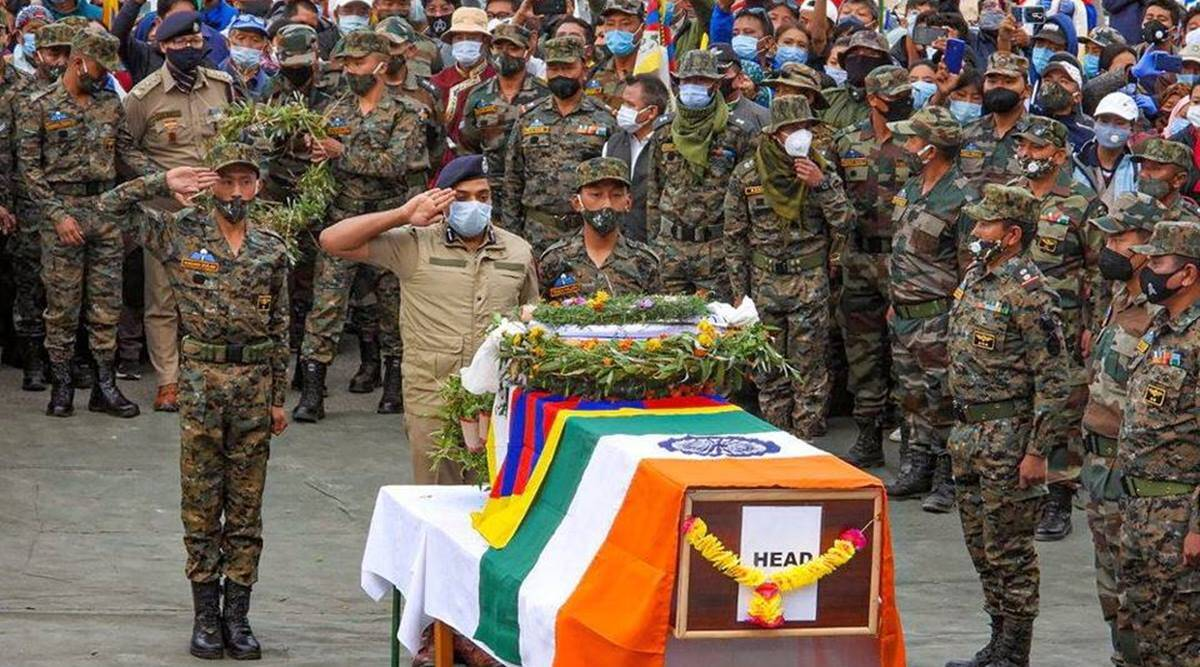 Died in landmine blast while patrolling, Special Frontier Force's Tibetan commando laid to rest