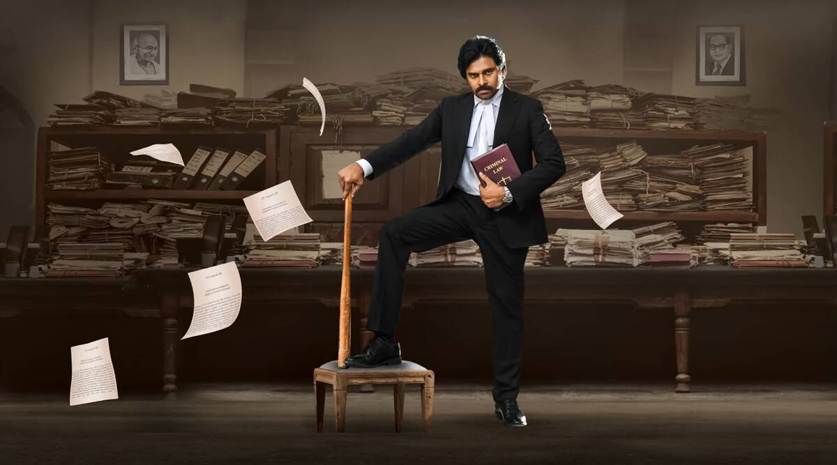 Vakeel Saab motion poster: Pawan Kalyan is armed with baseball bat and  criminal law | Entertainment News,The Indian Express