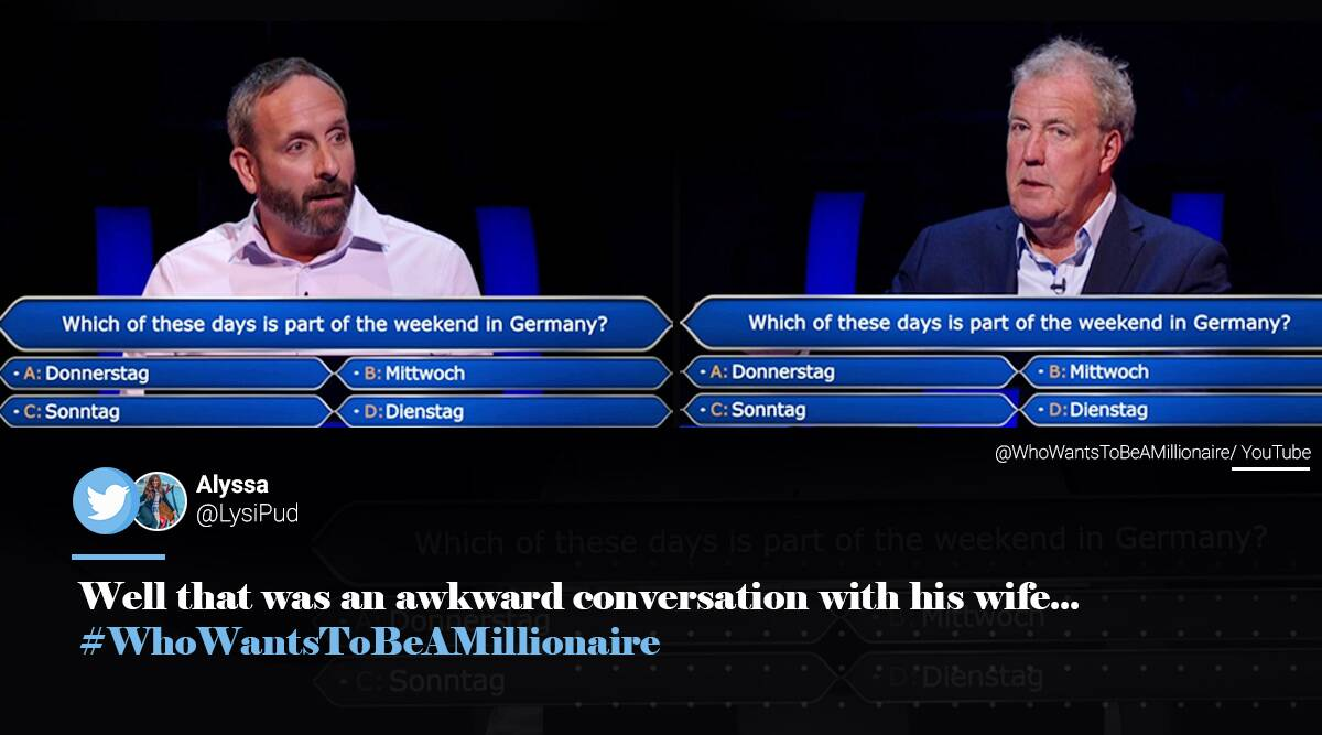 Who Wants To Be A Millionaire, Who Wants To Be A Millionaire man calls wife, Who Wants To Be A Millionaire player calls wife another man answers, viral news, indian express