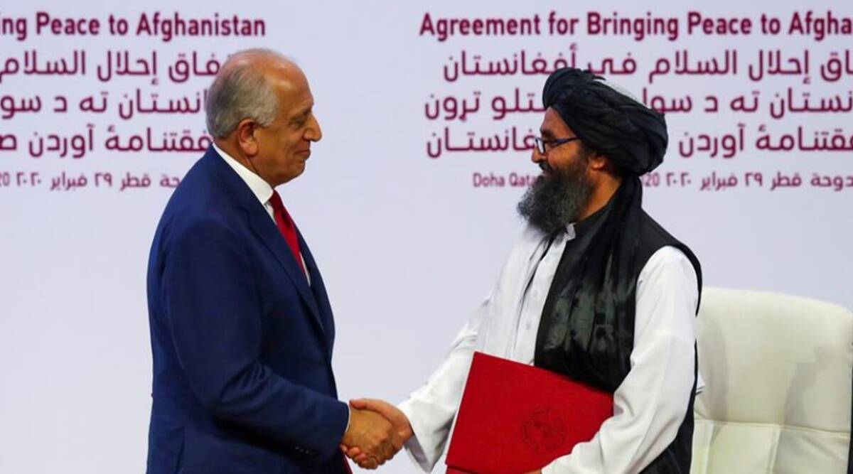 Afghan peace talks, Afghan Taliban peace talks, Taliban Afghan peace talks, Afghan Taliban talks, World news, Indian Express