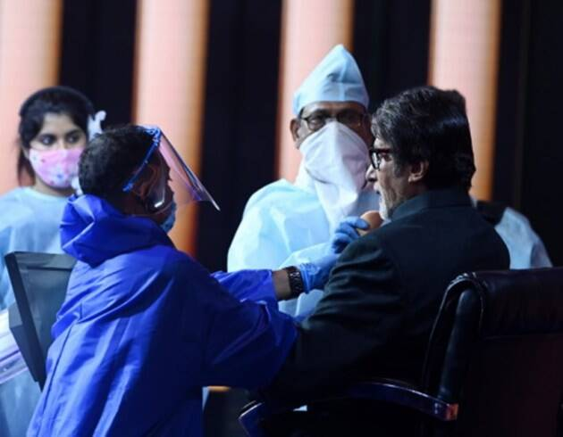 amitabh bachchan photos kbc 12 shoot