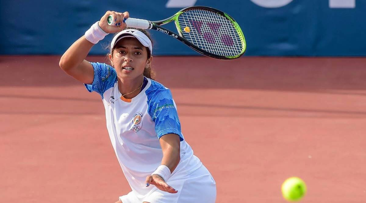 Ankita runs Ostapenko close, Karman too fights hard before losing on day 1 of BJKC