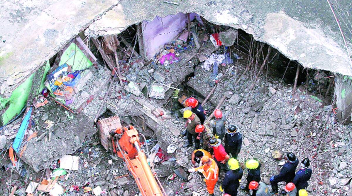 Bhiwandi building vollapse, bhiwandi building collapse deaths, bhiwandi building death toll, bhiwandi buildings electricity cut, indian express news