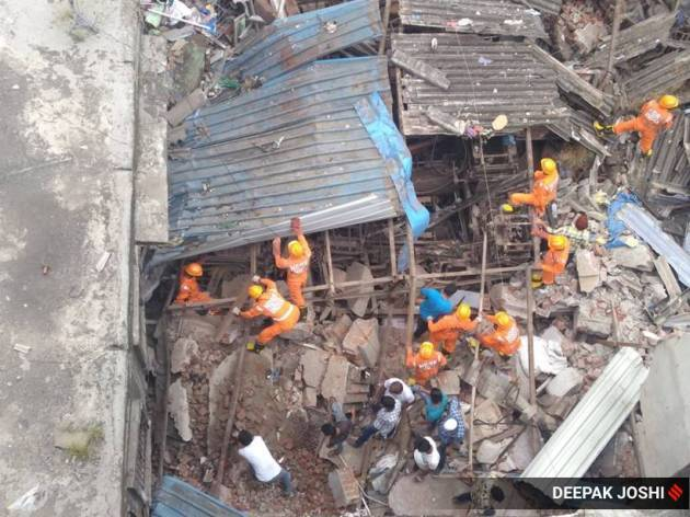 building collapse, mumbai building collapse, thane building collapse, bhiwandi building collapse, rescue operations, indian express news