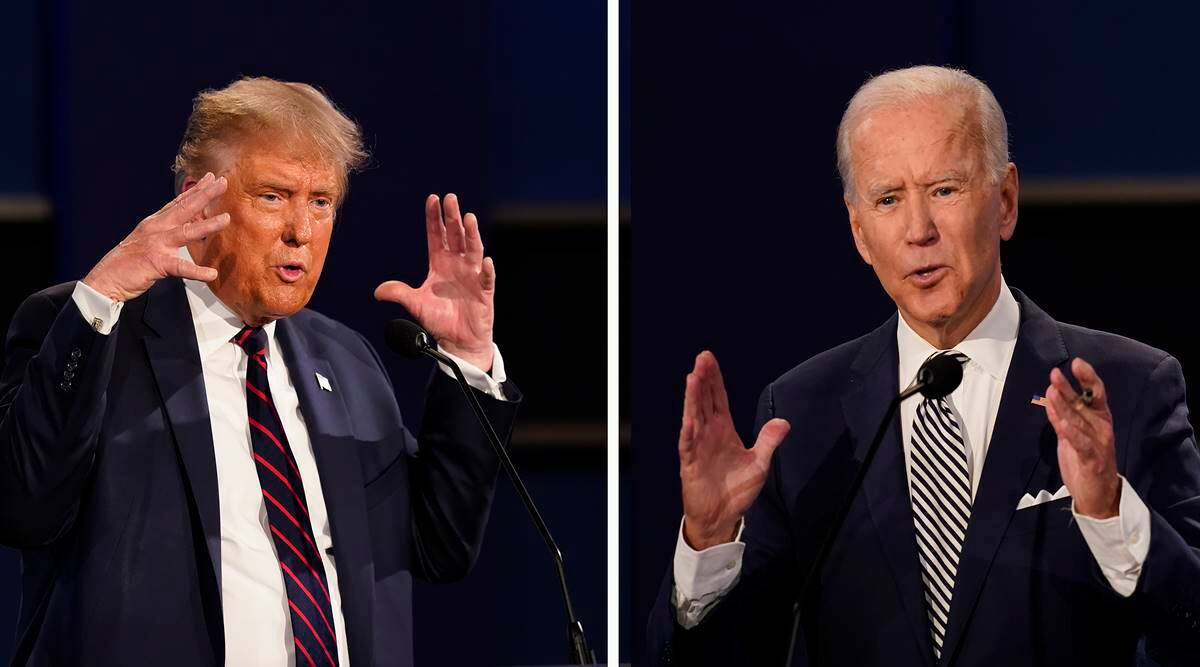 Joe Biden leads by 14 points over Donald Trump after first poll debate - The Indian Express