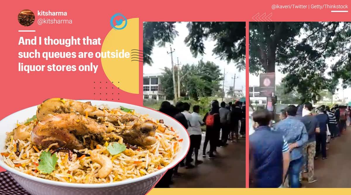 Hoskote Bangalore biryani viral video, anand dum biryani hoskote, Karnataka, trending,
