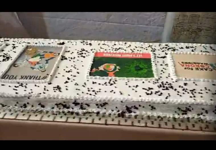 narendra modi birthday cake, corona warrior cake