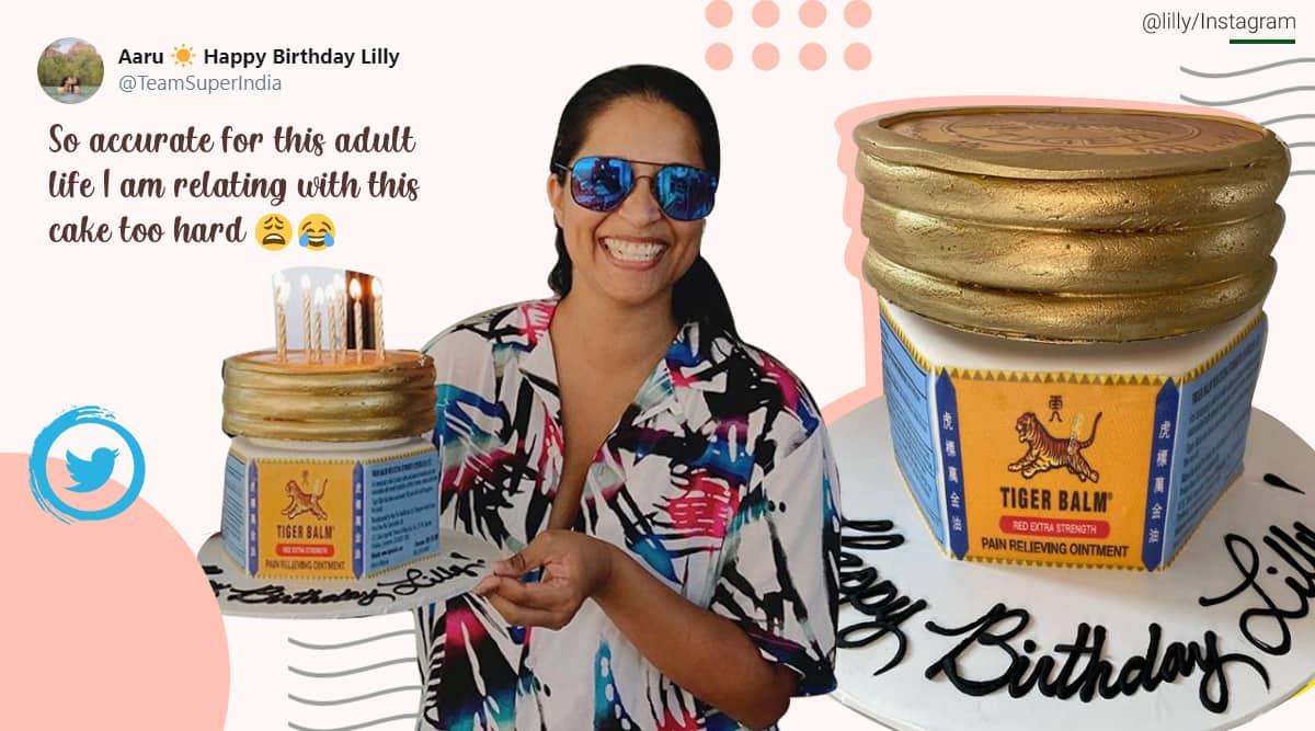 Lilly Singh, Lilly Singh tiger balm birthday cake, tiger balm inspired cake, Tiger balm cake version, Lilly Singh birthday celebrations, Trending news, Indian Express news.