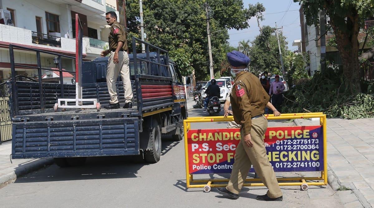 Chandigarh, Chandigarh police, Chandigarh news, Punjab farmers protest, Farm Bill 2020, Farmers Bill 2020, Farmers protest, Bharat Bandh, Indian Express
