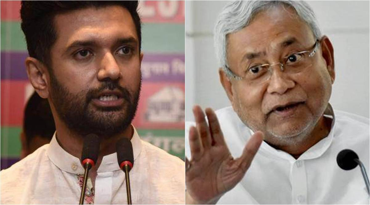 Bihar seat sharing, Bihar alliance, Chirag Paswan, Nitish Kumar, LJP-JDU, BJP Bihar, Amit Shah, JP Nadda, LJP meet, India news, Indian express
