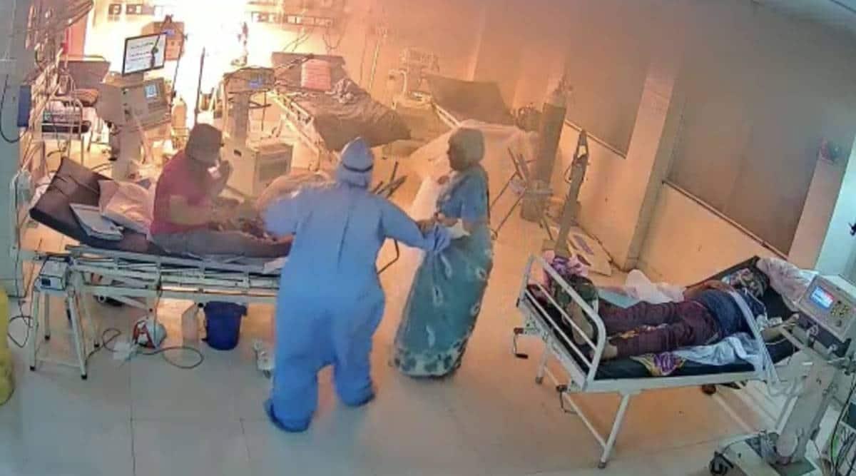 SSG COVID-19 Hospital fire, SSG Hospital fire, SSG Hospital Fire, Vadodara Hospital Fire, gujarat news