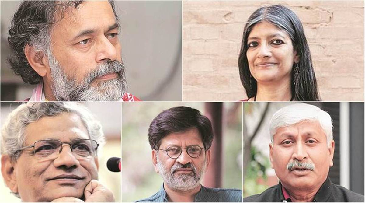 Yechury, Yadav, 2 professors, filmmaker named in Delhi Police riot chargesheet - The Indian Express