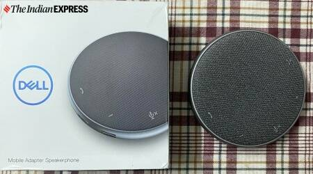 Dell Mobile Adapter Speakerphone, Dell Mobile Adapter Speakerphone review, Dell Mobile Adapter Speakerphone price in India, Dell Mobile Adapter Speakerphone laptop accessory, work from home tech