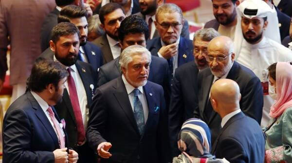 afghan talks, doha talks, afghan taliban talks, afghan peace talks, taliban, jaishankar doha talks, jaishankar taliban afghan talks, indian express