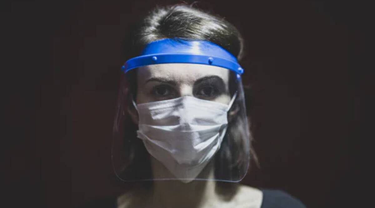 face shield, face mask, face shield effectiveness, indianexpress.com, indianexpress, study, riken study, face shield effectiveness,