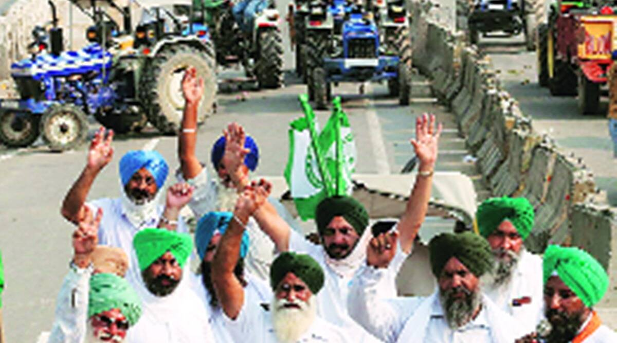 farm bills, farms bills protest, mohali farmers, mohali farmers protest, indian express news