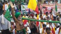 Thousands of farmers hit the streets in Bengaluru; several Cong, JD(S) workers detained