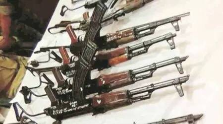 rusted firearms in west bengal, rusted firearms found in Goaltore, west bengal police, tmc, west bengal bjp, indian express news