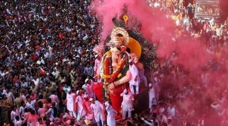 Ganesh immersion, ganesh festival in pune, noise pollution, noise pollution during ganesh festival, indian express news
