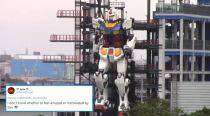 This video of 60-feet-tall Gundam robot replica in Japan has netizens excited