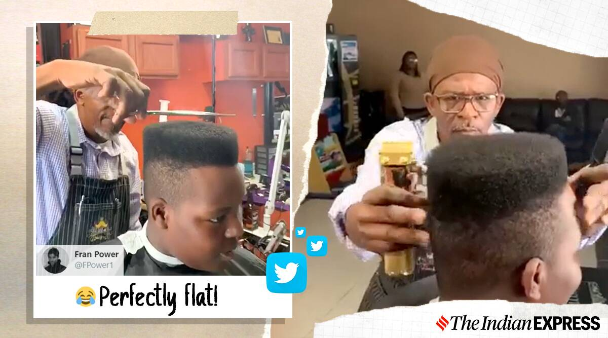 Haircut video, viral video, barbershop video, perfect haircut video, South Carolina, Trending news, Indian Express news