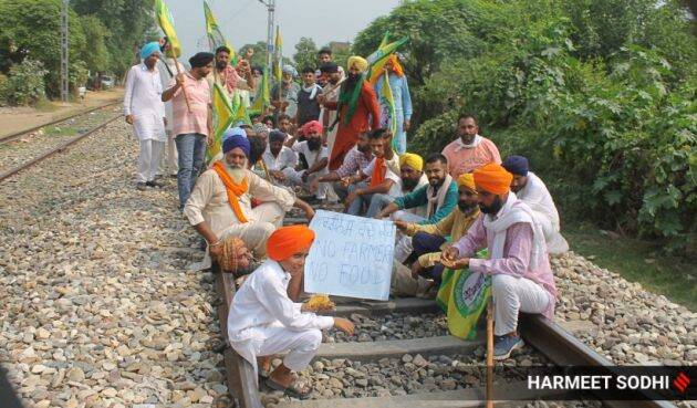 rail roko agitation, punjab farmer protest, Farmers protest Delhi, Delhi farmers protest, Farmers protest Punjab, Punjab farmers protest, Punjab farmers protest, Indian Express news