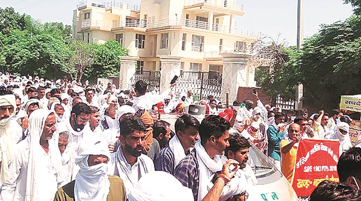 Haryana farmers protest, farm Ordinances, Monsoon Session, chandigarh news, Indian express news