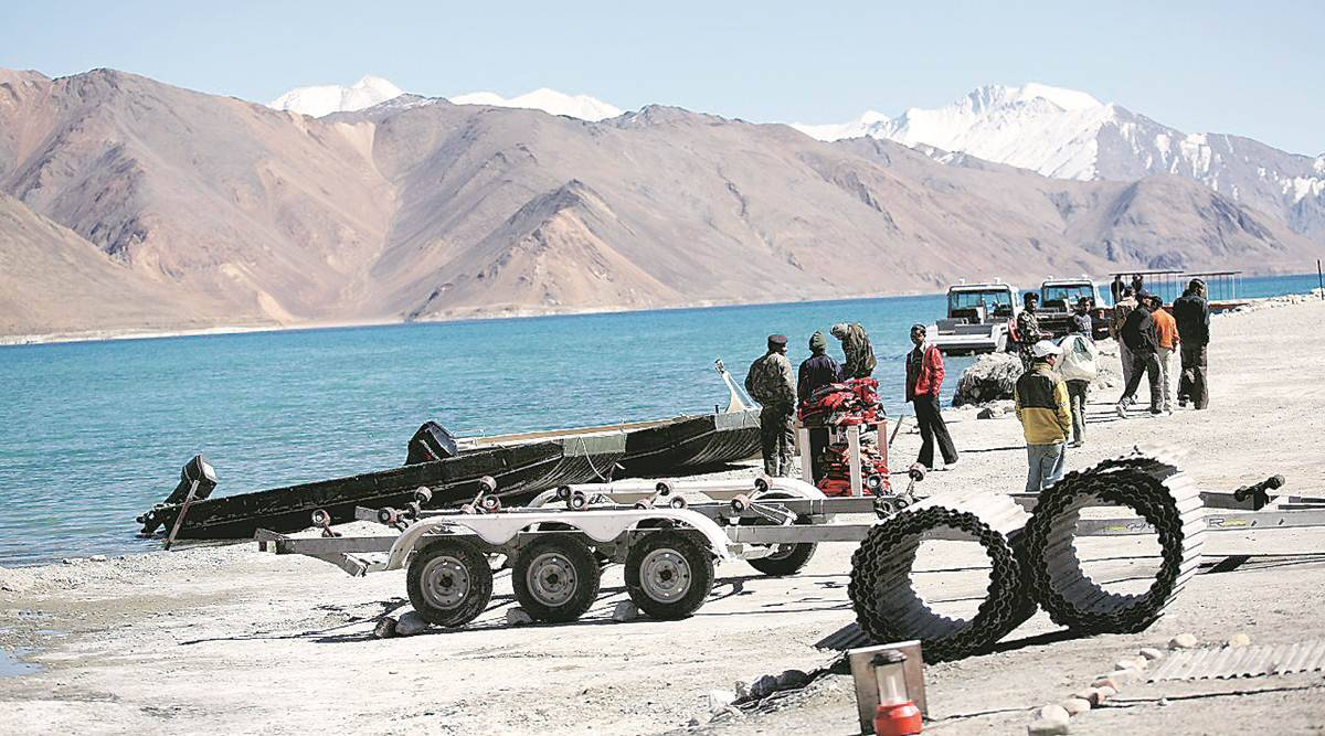 India china border standoff, china incursion, china pangong tso, pla, lac, indian army, india china, pangong tso lake, india news, Indian express news