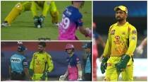RR vs CSK: Umpires recall Tom Curran after giving out, Dhoni loses cool